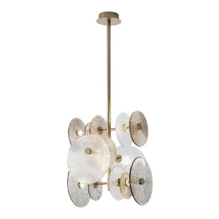 Murano Contemporary Vertical Andromeda Chandelier For Sale