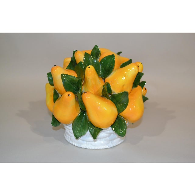 Italian Majolica Pears Centerpiece For Sale In New Orleans - Image 6 of 6