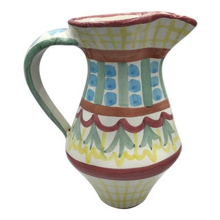 """Mackenzie Childs """"Madison"""" Pottery Pitcher For Sale"""