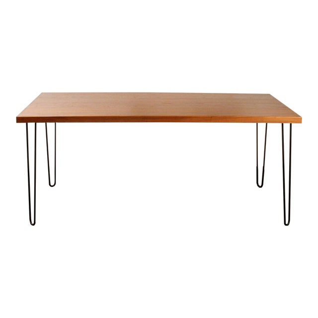 Teak Hairpin Dining Table - Image 1 of 5