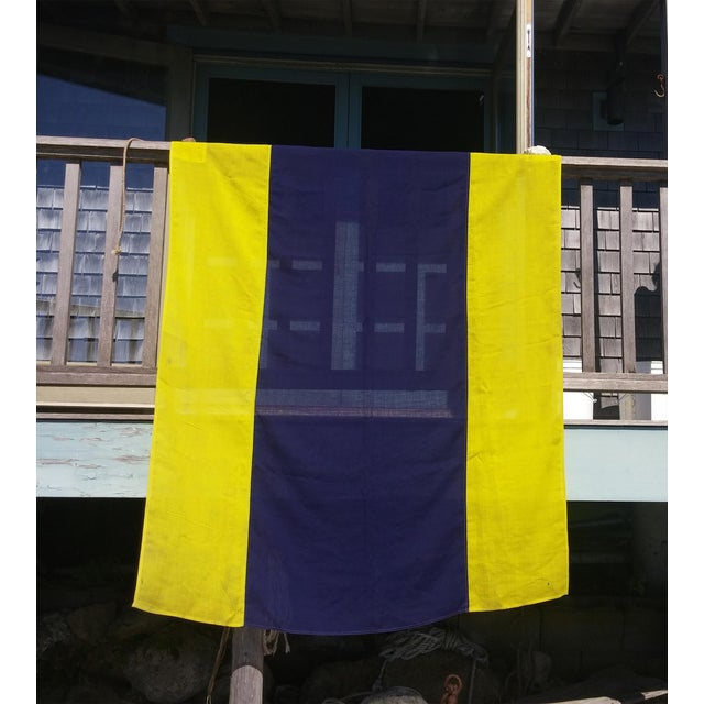 """This is a vintage nautical signal flag. """"D"""" - Delta also means """"Keep clear of me; I am maneuvering with difficulty."""" This..."""