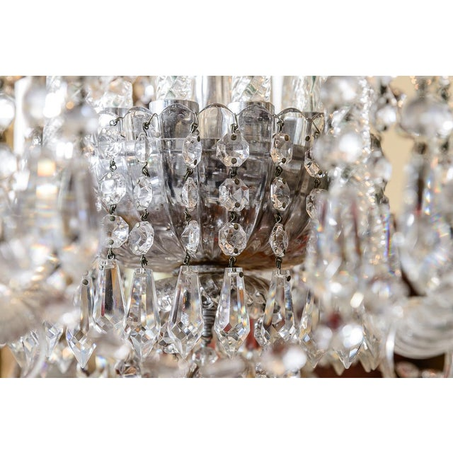Early 20th Century Pair of Cut Crystal Chandeliers For Sale - Image 5 of 9