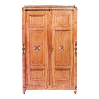 Austrian 'Viennese' Biedermeier Maple Armoire Cabinet For Sale