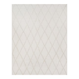 Erin Gates by Momeni Langdon Spring Beige Hand Woven Wool Area Rug - 8′6″ × 11′6″ For Sale