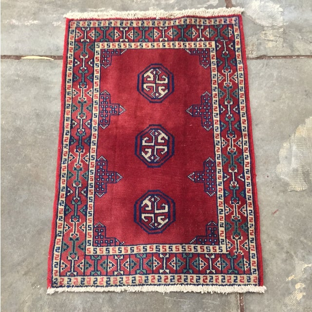 Turkaman Red Persian Rug - 2′2″ × 3′1″ - Image 2 of 8