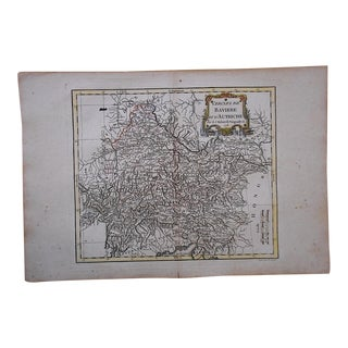 18th C. Antique Map-Germany-Bavaria & Austria For Sale