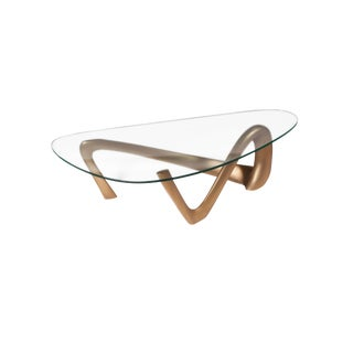 Amorph Iris Gold Finish Coffee Table For Sale