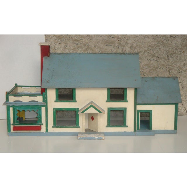 1920s Handmade American Folk Art House Maquette For Sale - Image 9 of 9