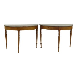 Maple Console Tables - a Pair For Sale