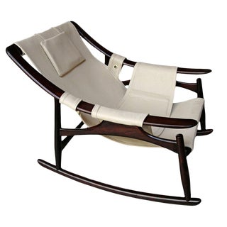 1960s Liceu De Arte Brazilian Rocking Chair For Sale