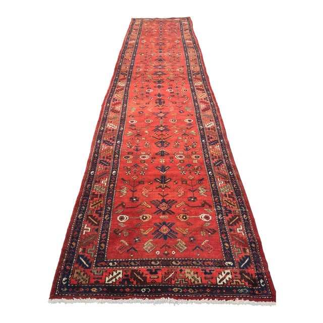 Persian Hosenibad Runner - 3′5″ × 15′10″ - Image 1 of 11