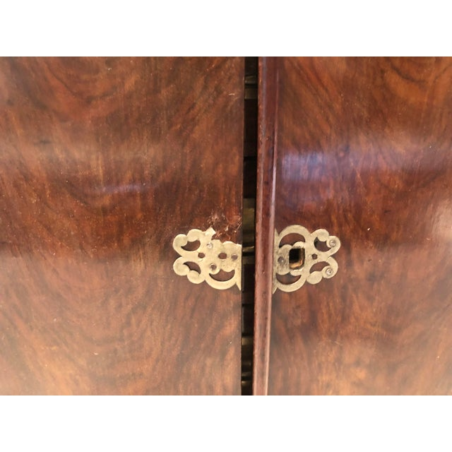 19th Century Mahogany Man's Jewelry Case For Sale - Image 9 of 10