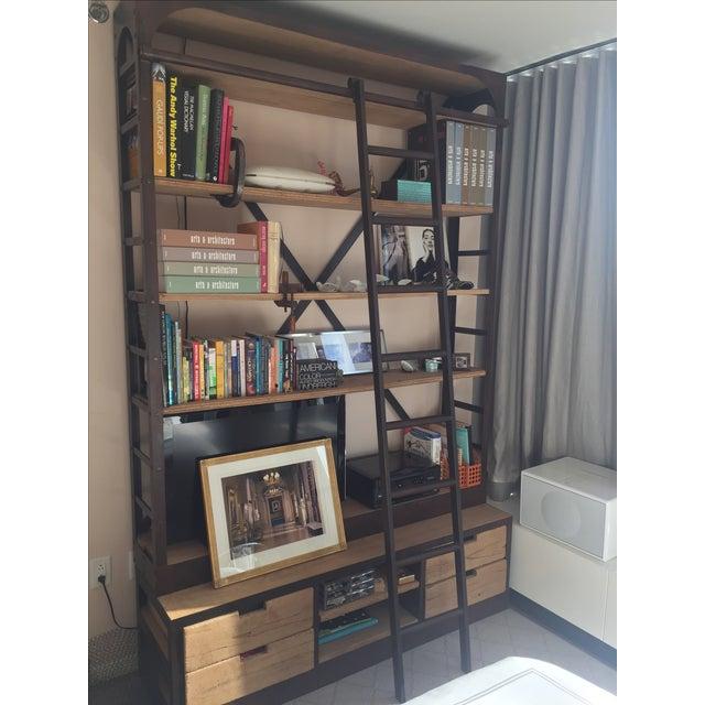 Restoration Hardware Bookcase & Ladder For Sale In New York - Image 6 of 7
