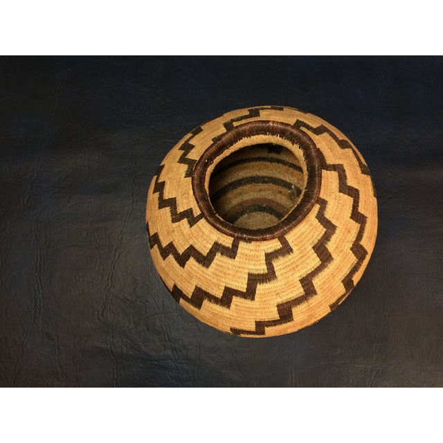 Organic Colombian Werregue Round Woven Basket - Image 4 of 7