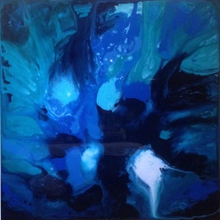 Blue Abstract VII by Chelsea Fly