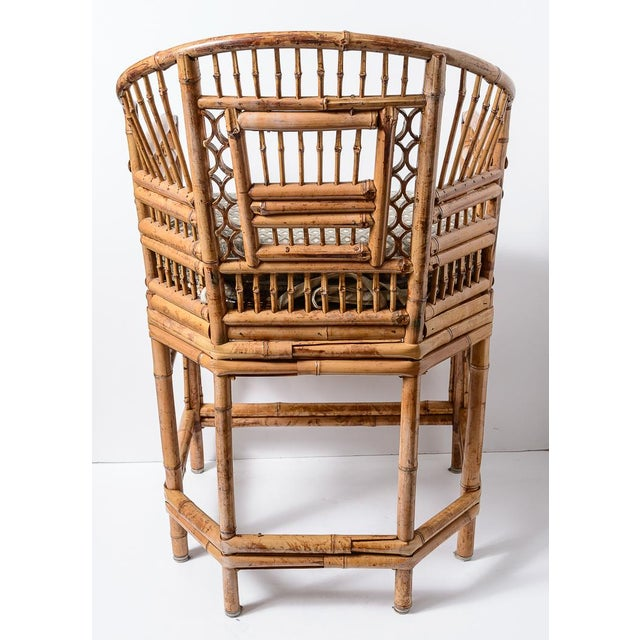 Brighton Bamboo Barrel Chairs, A-Pair For Sale In West Palm - Image 6 of 13