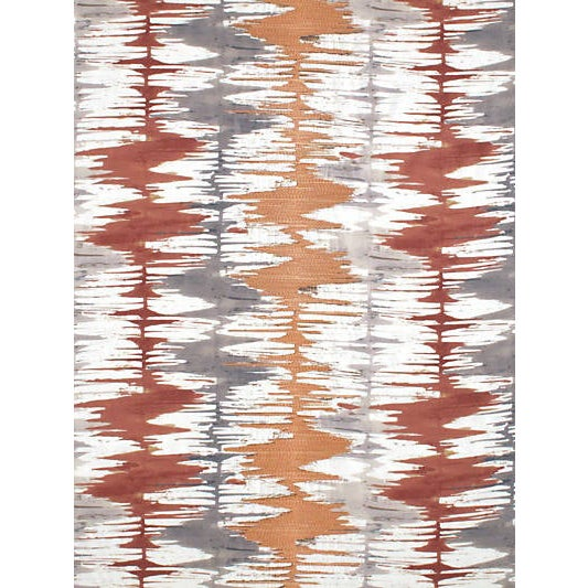 Scalamandre River Delta Embroidery, Sienna For Sale