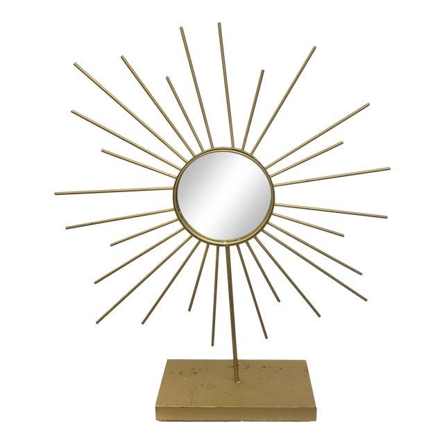 Vintage Gold Metal Starburst Vanity Mirror - Image 1 of 10