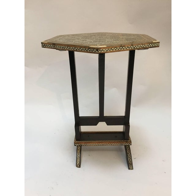 Egyptian Octagonal Side Table For Sale - Image 9 of 9