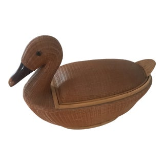 Bamboo Mallard Duck Basket For Sale