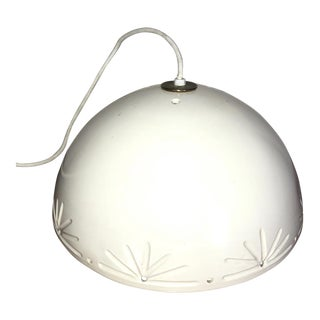 Vintage White Ceramic Pendant Light