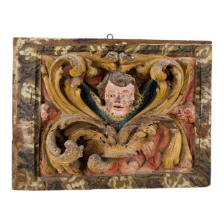 18th Century Italian Wood Carved Figural Relief For Sale