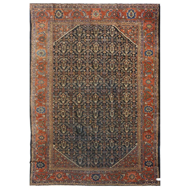 Persian Mahal Rug - 7′10″ × 11′5″ For Sale