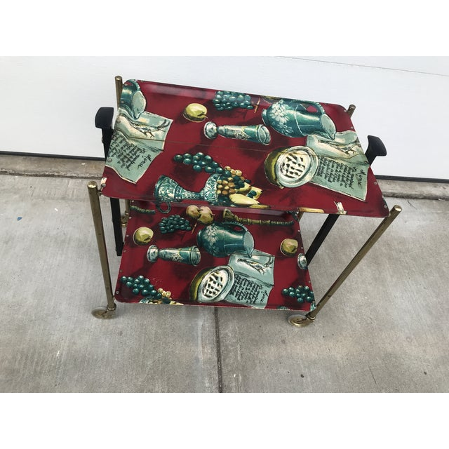 1960s German Still Life Print Bar Cart For Sale - Image 4 of 13