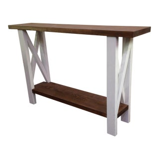 Handmade Farmhouse Hall Table For Sale