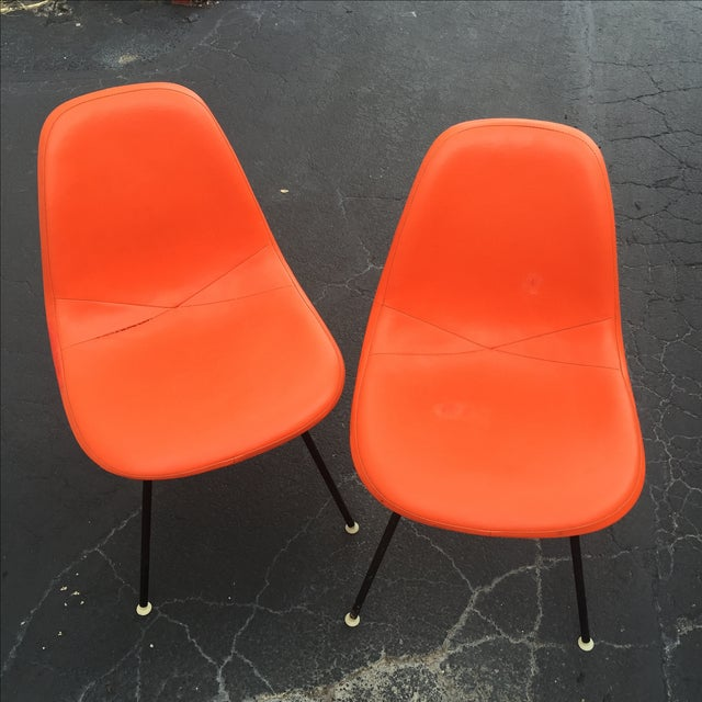 '59 Herman Miller Padded Eames Shell Chairs - Pair - Image 2 of 9