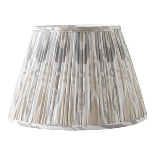 "Petal Ikat in Linen 12"" Lamp Shade, Sand For Sale"