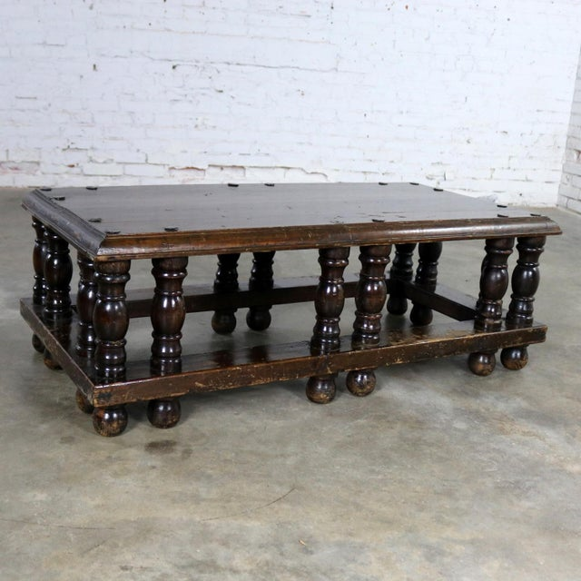 Mid 20th Century Spanish Revival Style Rectangular Coffee Table Artes De Mexico Internacionales Attribution For Sale - Image 5 of 13