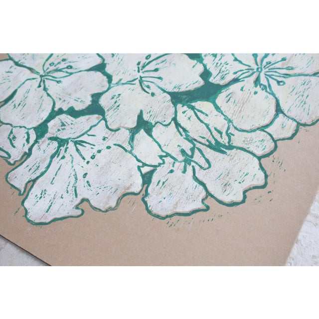 """""""Jasmine Night Smell"""" Floral Woodblock Print by Michelle Farro For Sale In New York - Image 6 of 10"""