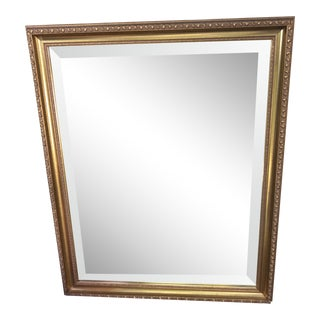 Gilded Mirror With Beveled Glass For Sale