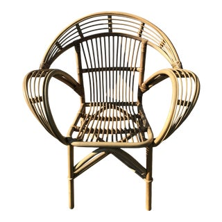 Late 20th Century Rattan Chair For Sale