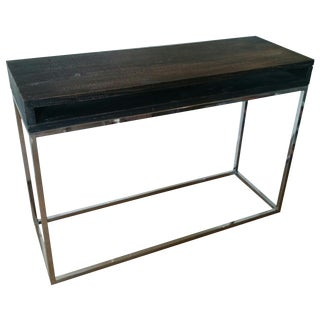Dark Wood & Stainless Steel Desk