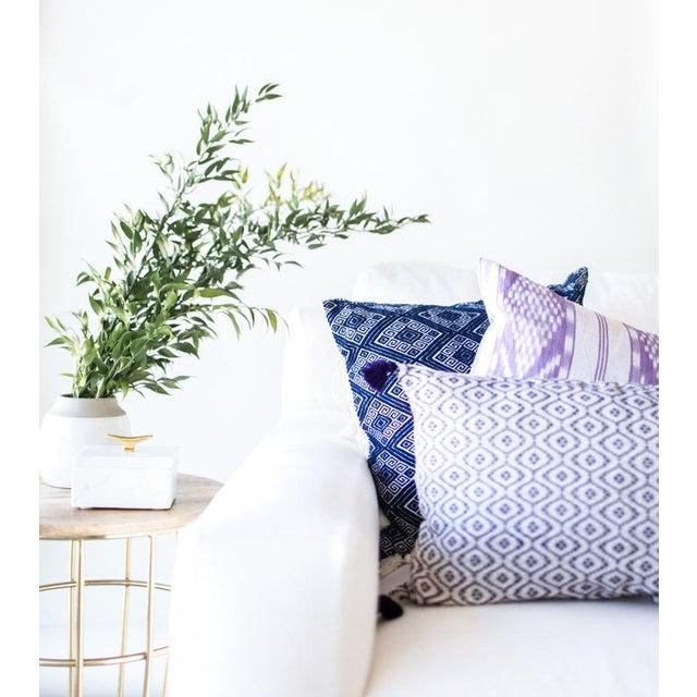 Lilac & White Ikat Guatemalan Pillow - Image 7 of 9