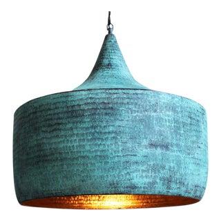 Green Copper Hammered Hat Lantern