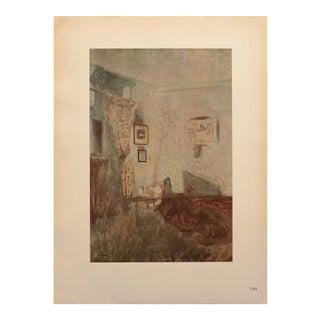 """1948 After Édouard Vuillard """"Interior a La Bougie"""" Vintage Parisian Print For Sale"""