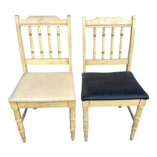 Dixie Faux Bamboo Shangri La Dining Chairs - a Pair For Sale