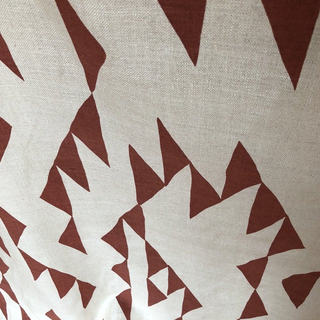 2010s Maroon Print Fabric on Silk For Sale - Image 5 of 8