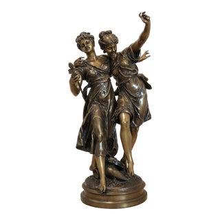 19th Century Figurative Etienne Henri Dumaige Bronze Sculpture