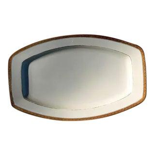 Vintage 1950s Gold Edge Platter For Sale