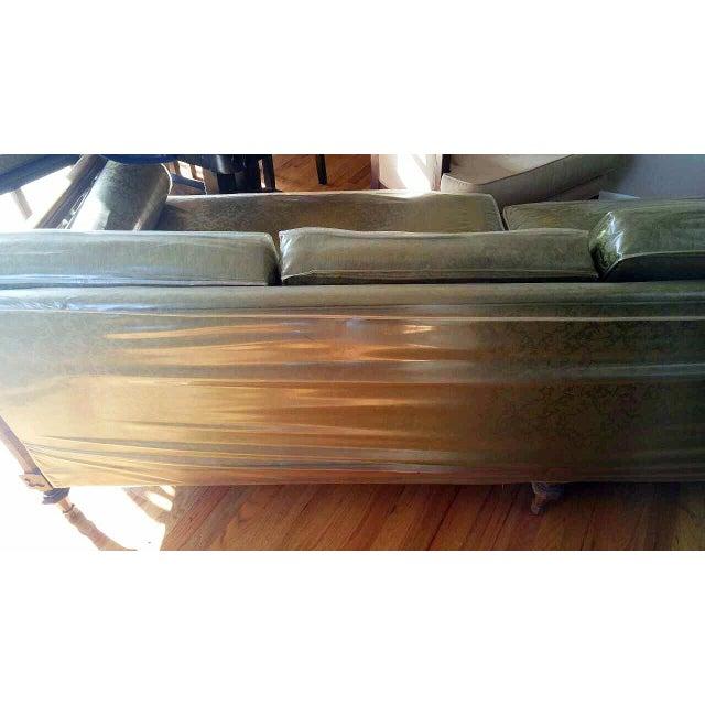 American of Martinsville Burl Panel Arm Sofa - Image 10 of 10