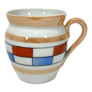 "Czechoslovakian Lusterware ""Union K"" Mug For Sale"
