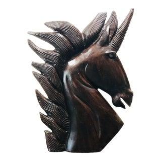 Brown Fiberglass Unicorn Statue For Sale