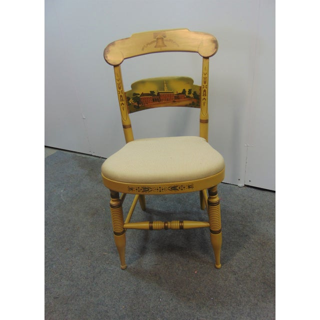 Hitchcock Independence Hall Side chair , Limited edition , yellow base color , upholstered