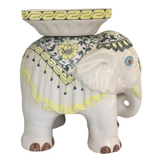 Elephant Garden Stool Side Table For Sale