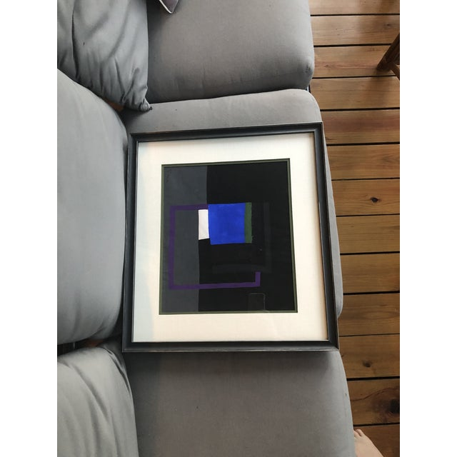 Paint Bernard Segal Abstract Gouache Painting For Sale - Image 7 of 7