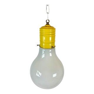 1960s Vintage Pop Art Light Bulb Motif Shaped Swag Light For Sale